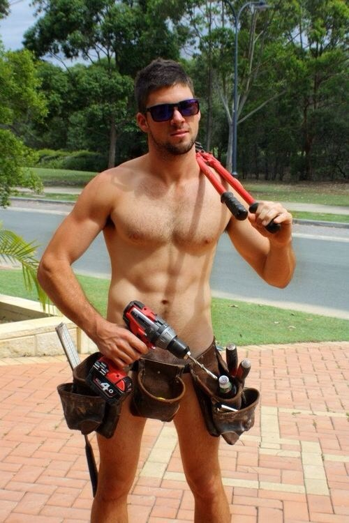 Nude gay carpenter
